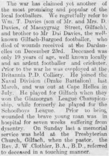 Monmouth Guardian  2 February 1916