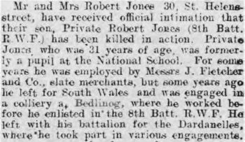 North Wales Chronicle and Advertiser for the Principality - 4 February 1916