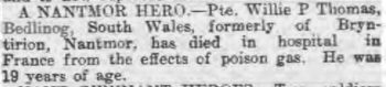Cambrian News and Merionethshire Standard   November 1, 1918
